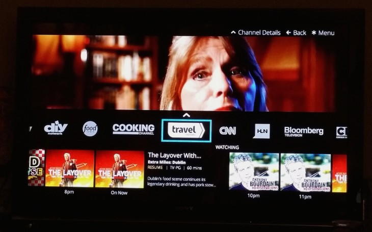 sling tv channel browse