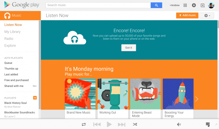 Google Play Music Increases Free Personal Cloud Storage To 50 000 Songs