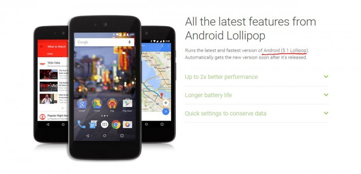 Android One Lollipop 51 more