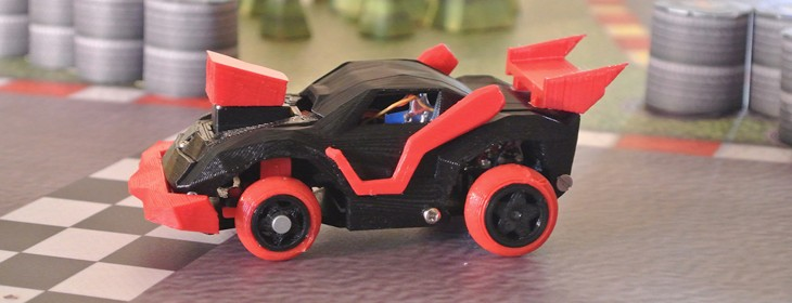 3DRacers is real world Mario Kart with 3D-printed mini cars