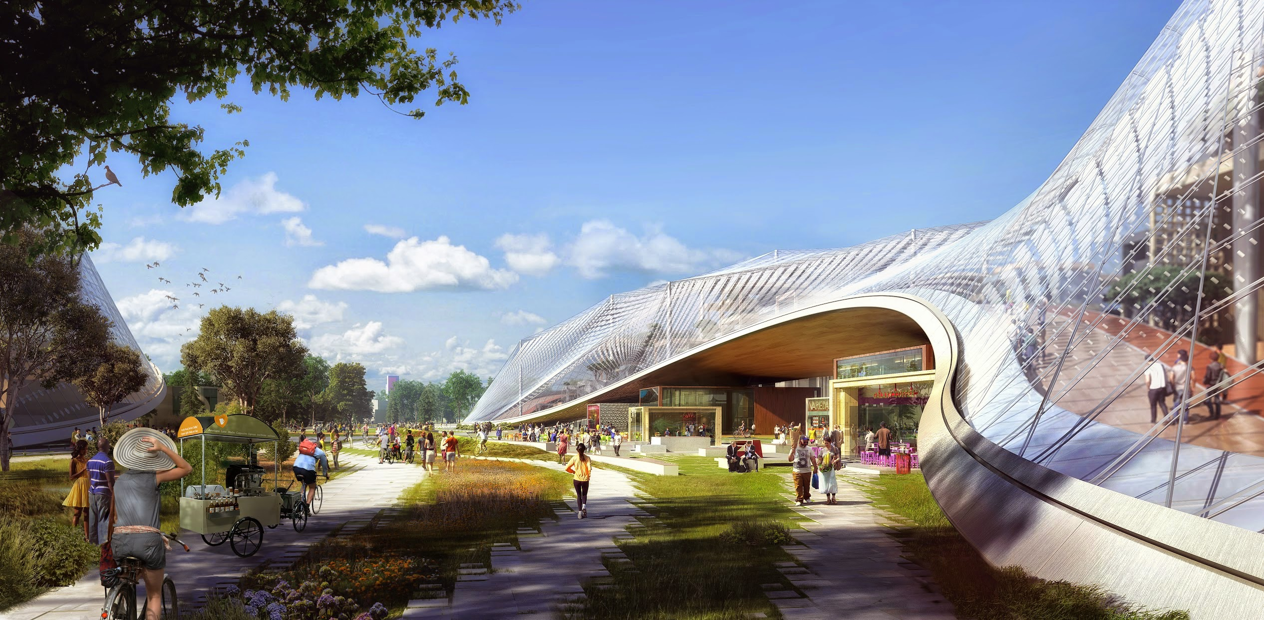 Check out renderings of Google's cool new campus of movable structures