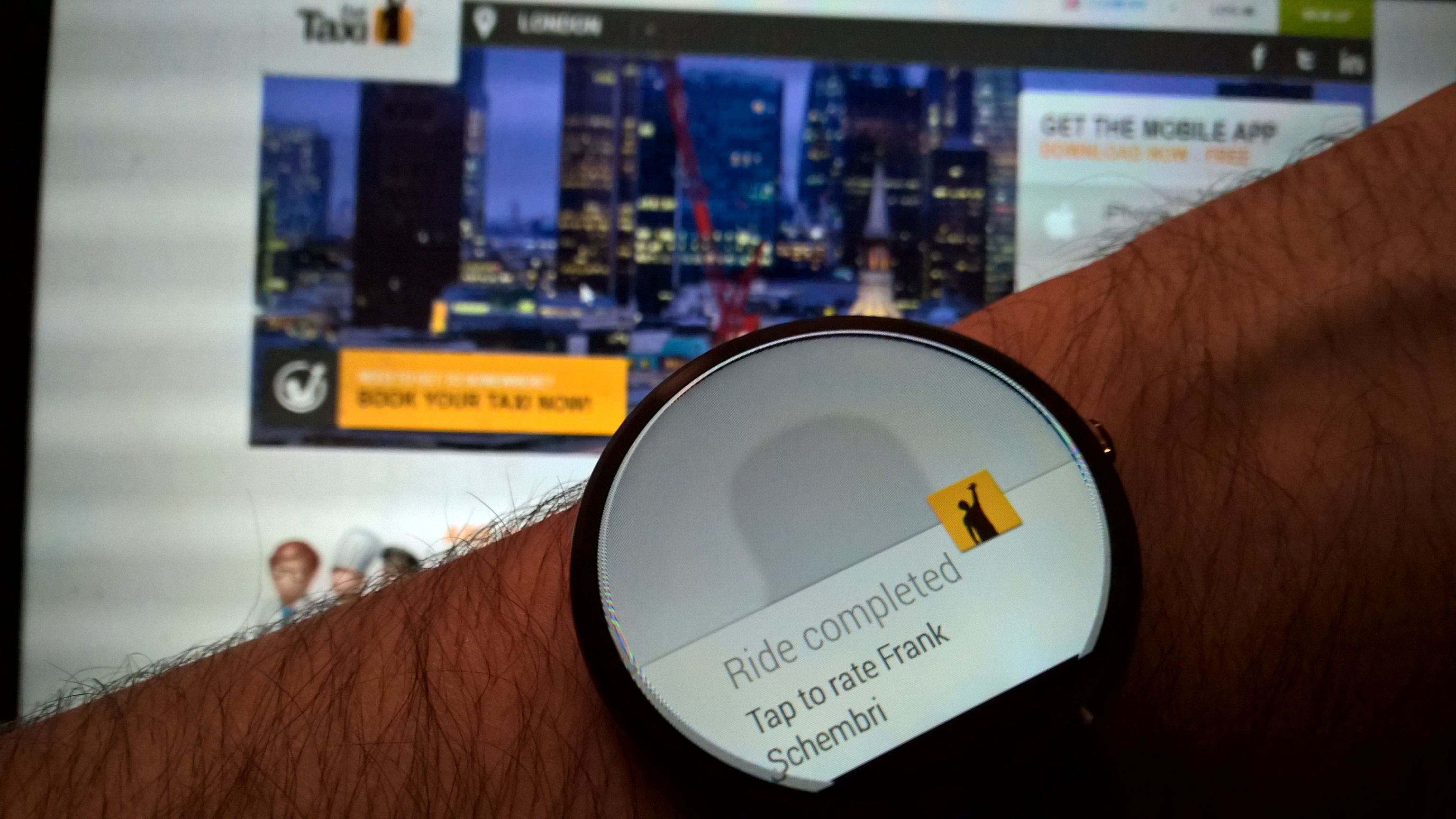 Gett Lands for Android Wear, Lets You Book Taxis From Your Wrist