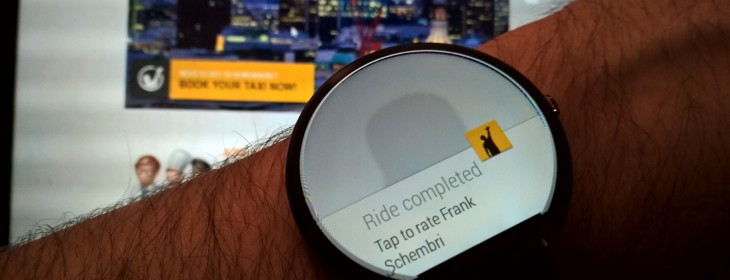 Gett lands for Android Wear devices, lets you book a taxi without touching your phone