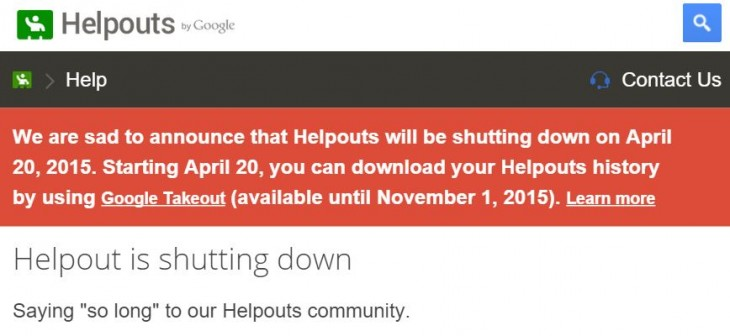 Google is shutting down its Helpouts paid advice community on April 20