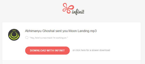 Infinit sent file