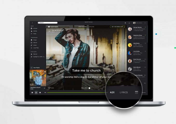 Spotify desktop update brings Musixmatch integration for full song lyrics