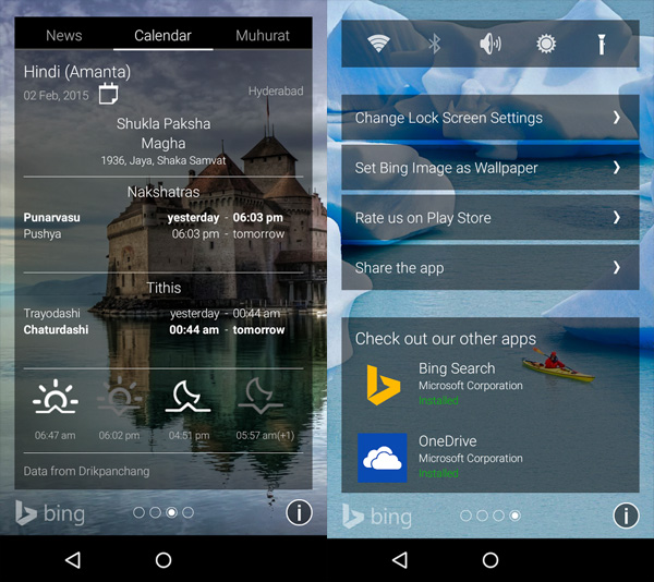 Picturesque adds a bunch of useful widgets and information on your lock screen