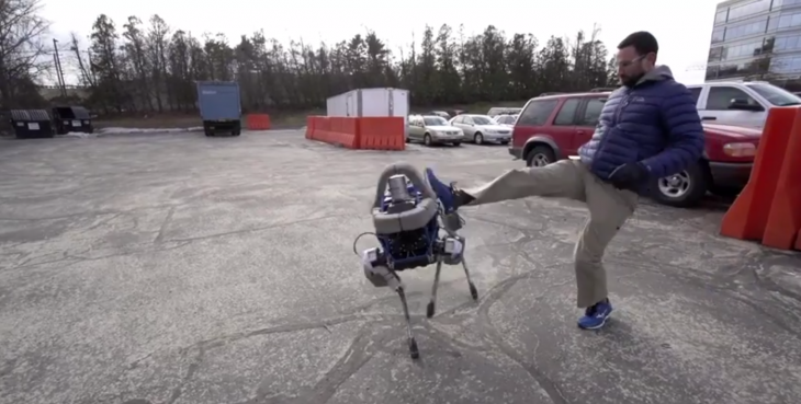 Boston Dynamics shows off new robot dog, dooms us all by kicking it