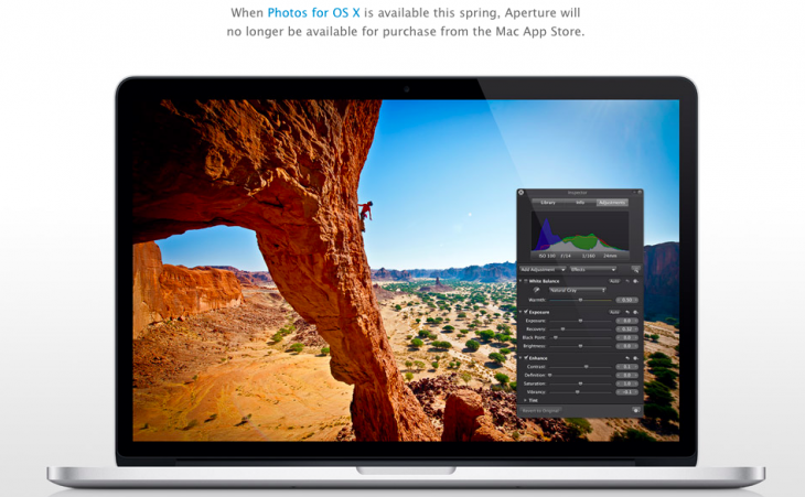 Say goodbye to Aperture as Apple reminds us of its impending demise