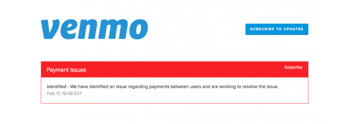 Payment service Venmo is suffering from a major outage [Update: It's back!]
