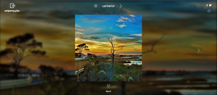 SwipeMy.Pics Web-based Instagram viewer focuses your eyes on the image