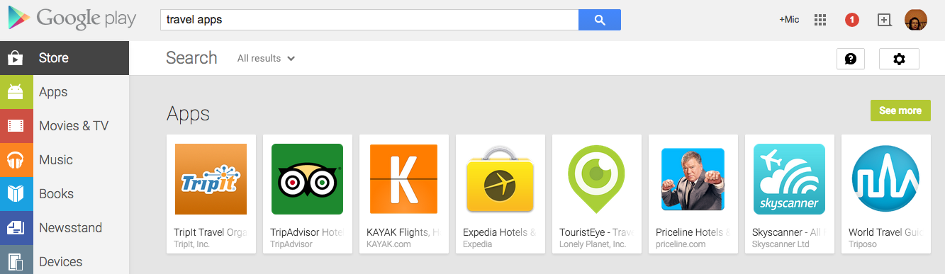 Google's testing app ads in the Google Play Store