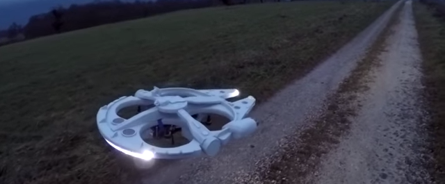 Watch this Millennium Falcon drone then build your own
