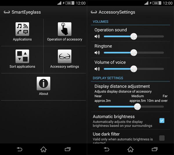 SmartEyeglass app