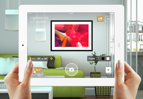 Preview art on the wall with curioos augmented reality app for Aplicacion para decorar casas