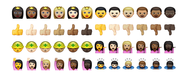 Major emoji changes will allow you to change hair color and gender