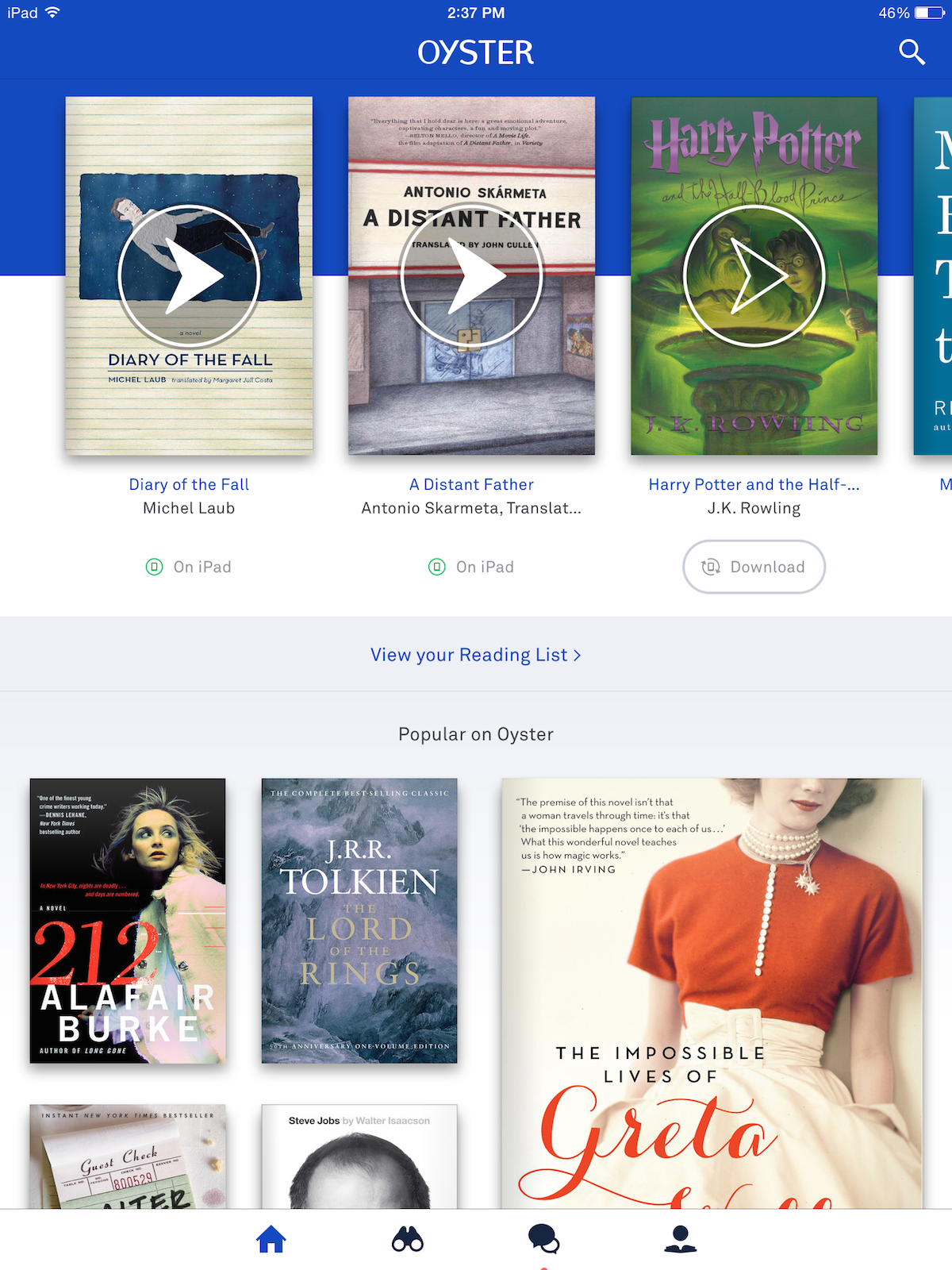 Oyster\'s App Update Focuses on Better Recommendation