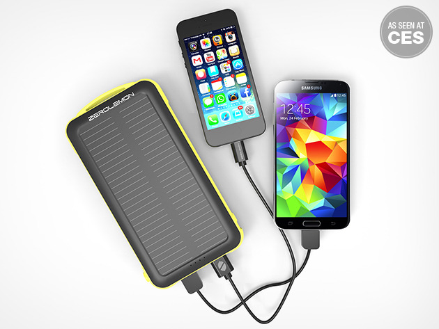Get 50% off ZeroLemon's SolarJuice 20,000mAh battery pack