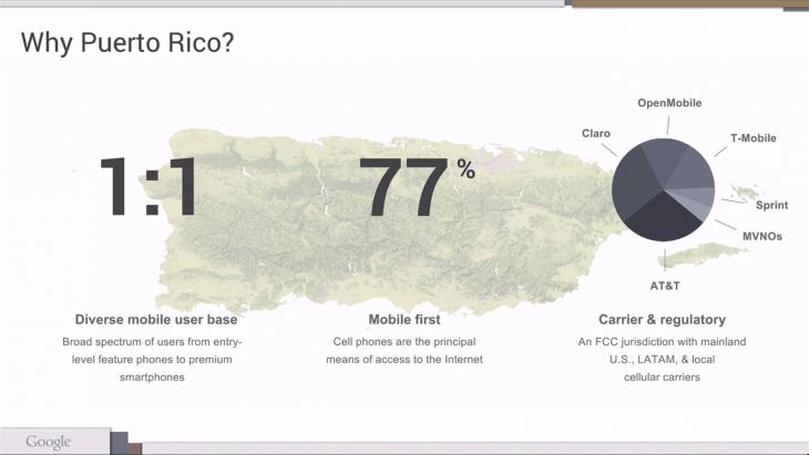 why puerto rico google project ara