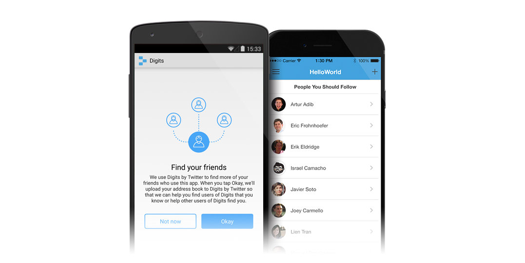 How to find friends on twitter app