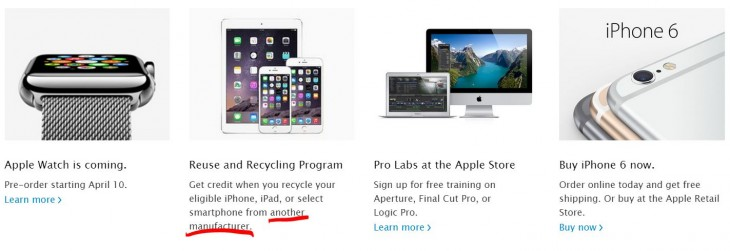 Apple Reuse and Recycle Recycling