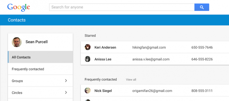 Google revamps Contacts with new design, integrates emails and meetings
