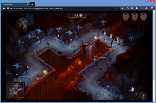 Unreal Engine demo running in  Firefox Developer Edition