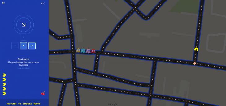 You can play Pac-Man inside Google Maps, from mobile or desktop Google Maps Desktop on google map apps, google map blackberry, google map graphics, google map wallpaper, google map web, google map screen, google map camera, google map java, google map online, google map icons, google map cookies, google map server, google map apple, google map themes, google map wall, google map plotter, google map gps, google map history, google map mobile, google map ups,