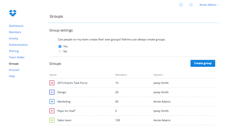 Groups Screenshot - March 5, 2015