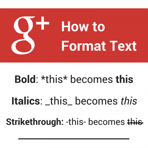 How-to-format-Google+-text