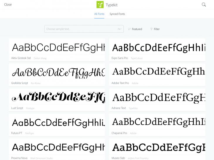 comp cc typekit