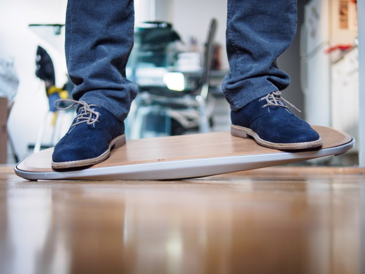 The Level is a balance board for standing desk users, and it's kind of awesome
