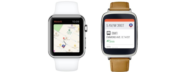 Moovit Reveals Apple Watch and Android Wear Apps