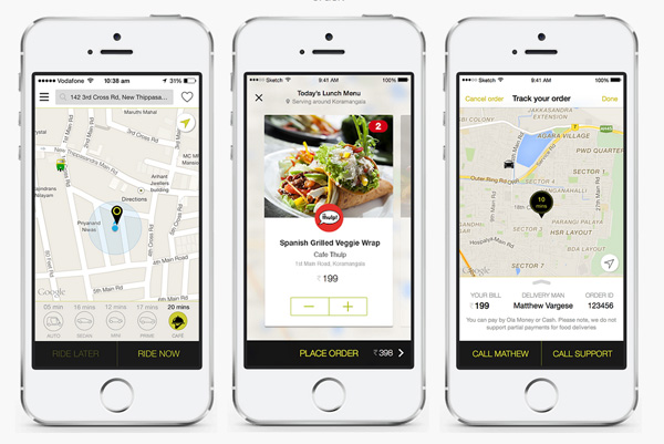 Indian Cab Company Ola Now Delivers Meals in 20 Minutes