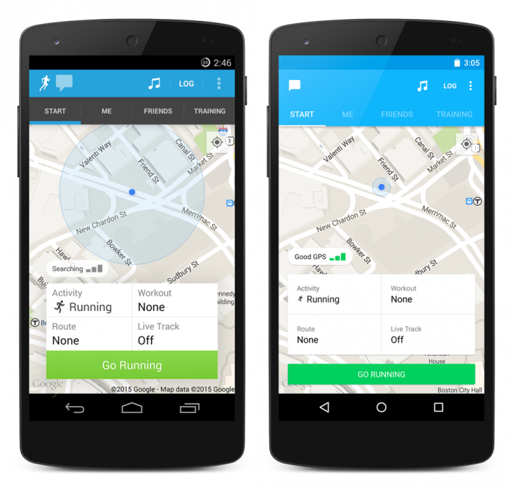 RunKeeper on Android gets Material Design overhaul and slicker transitions