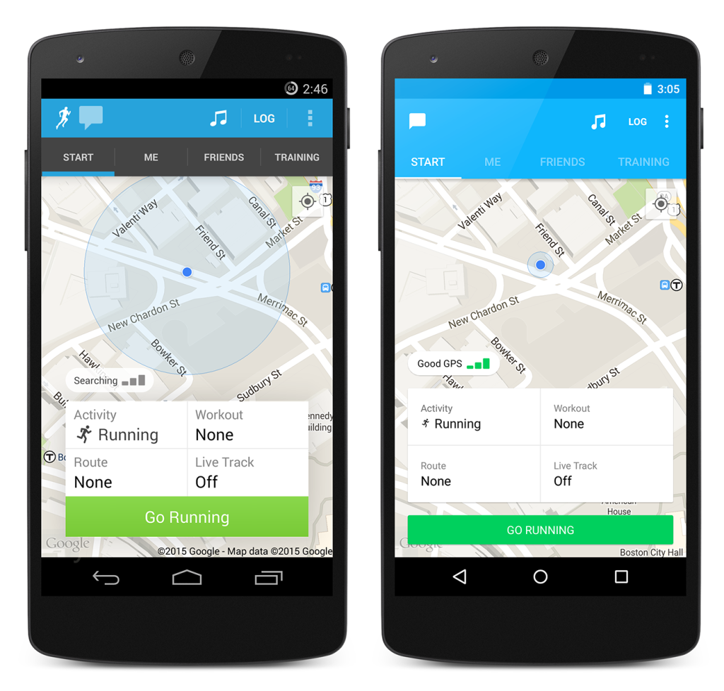 Runkeeper on Android Gets Material Design Overhaul
