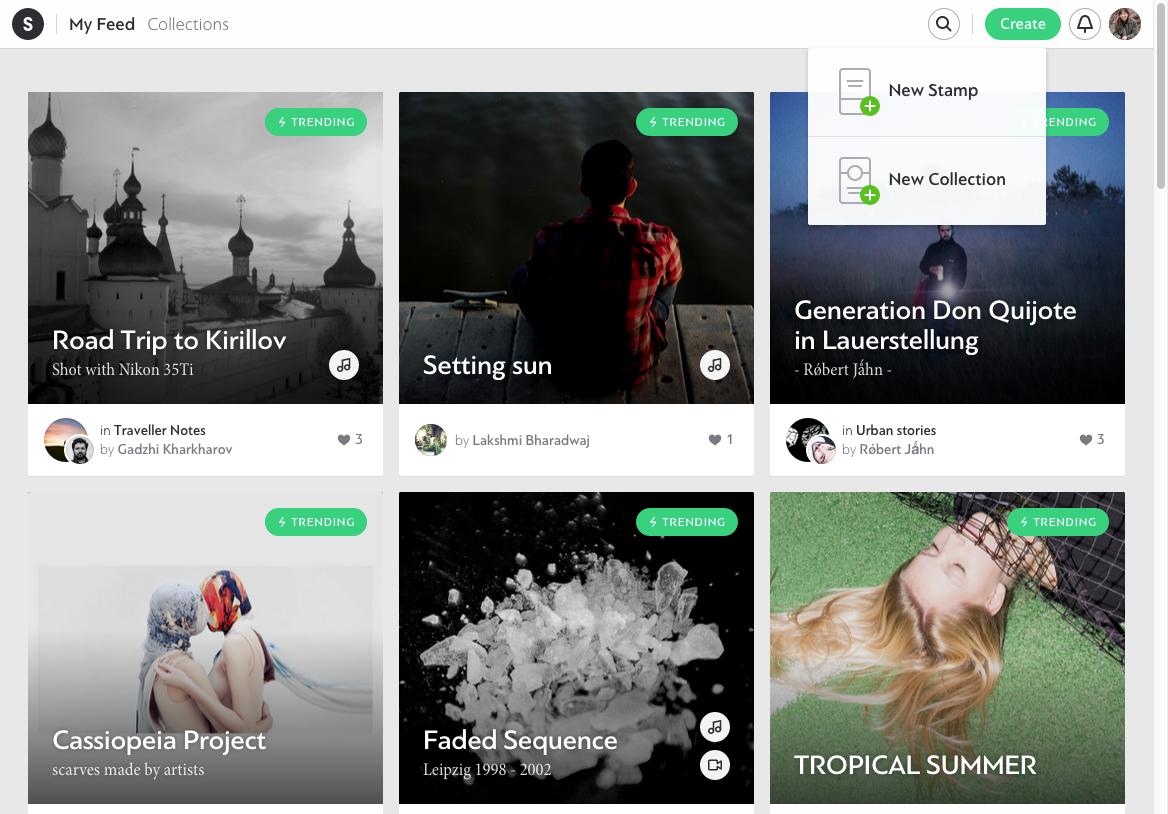 Stampsy: A Creative Medium Between a Blog and a Website