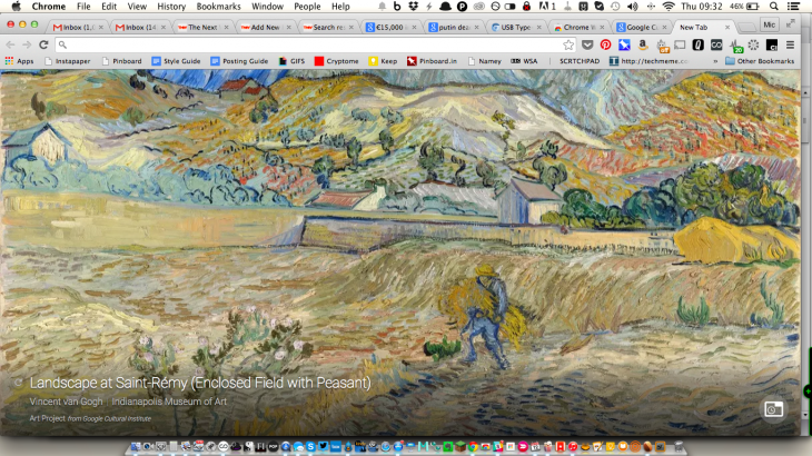 Google's Art Project Chrome extension brings classic paintings to every new tab