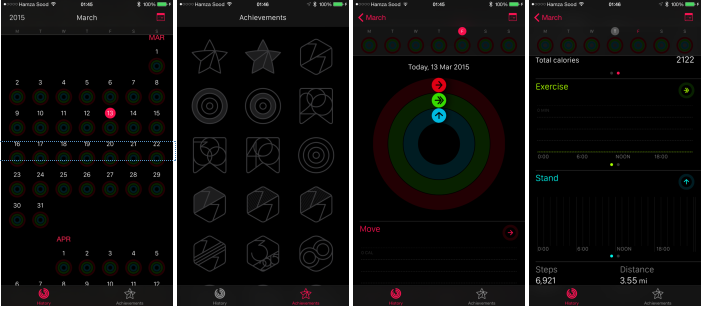 Here's what the Apple Watch Activity app looks like on iPhone