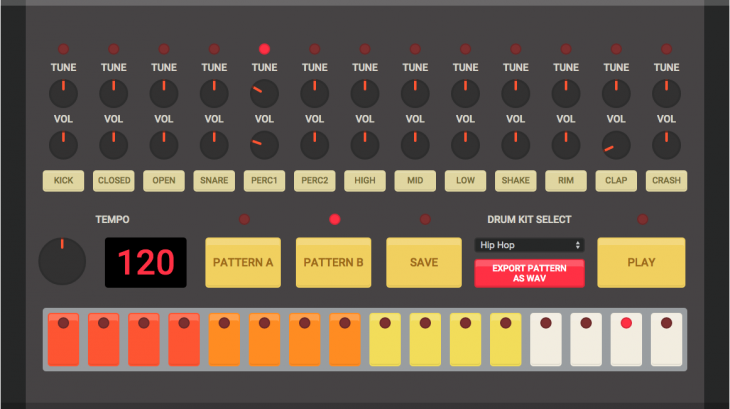 Online version of the 808 drum machine is your ticket to drop dat bass