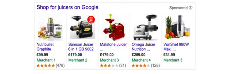 Google adds product ratings to shopping searches in Europe