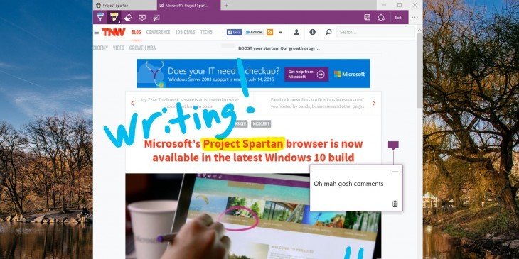 Hands on with Project Spartan, Microsoft's Internet Explorer replacement