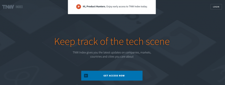 TNW Index on Product Hunt