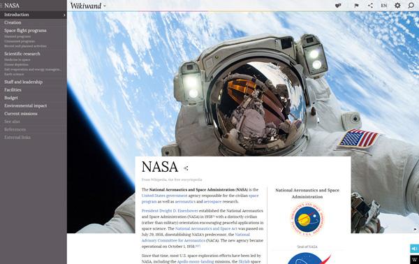 Wikiwand Web - Article - NASA