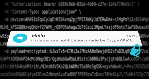 CryptoShift  end-to-end encryption for push notifications