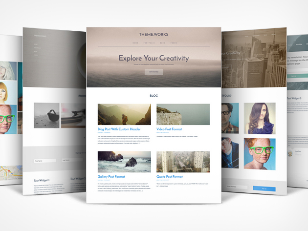 95% off a lifetime subscription to Theme.Works WordPress Builder