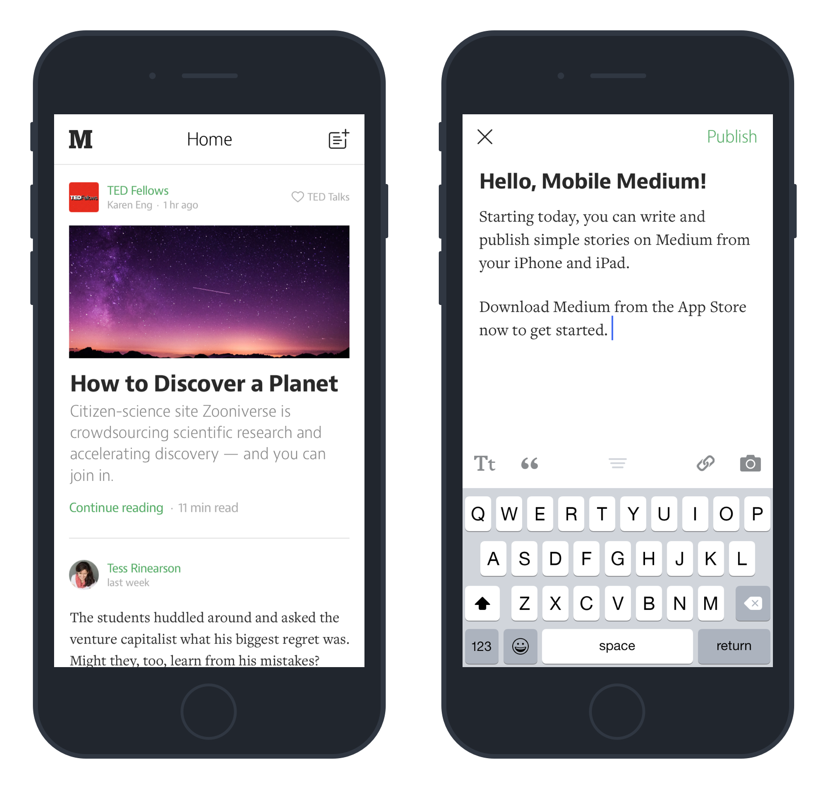 Medium for iOS Now Lets You Write and Publish from The App