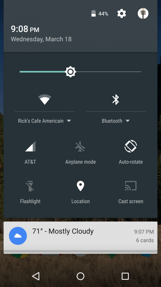 notification toggles