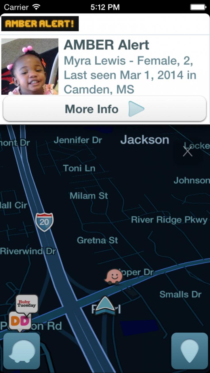 Waze Now Displays AMBER Alerts In-App