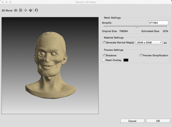 3D Mesh Simpliciation